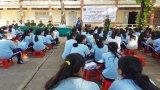 Thành đoàn Tân An phối hợp Công an tuyên truyền phòng, chống ma túy trong học đường