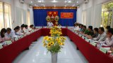 Thường trực Tỉnh ủy Long An làm việc với Ban Thường vụ Huyện ủy Tân Hưng