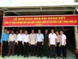 Công ty Xổ số Kiến thiết Long An trao 4 nhà đại đoàn kết tại huyện Đức Huệ