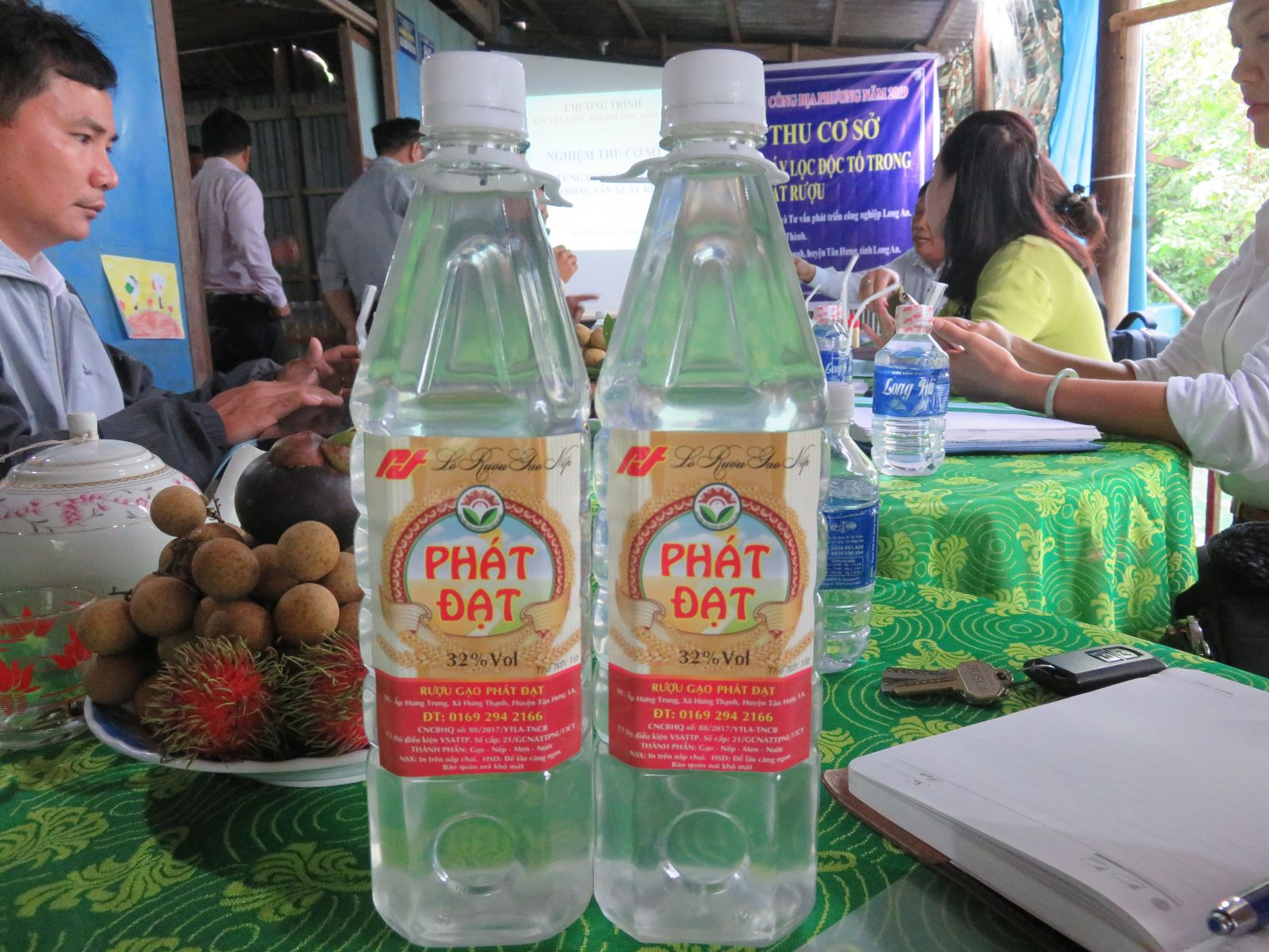 Wine products made by business households Tran Phuoc Thanh with Phat Dat trademark