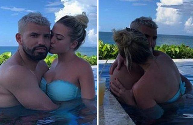 Sergio Aguero và cô bạn gái Sofia Calzetti vừa khoe ảnh hẹn hò tình tứ
