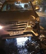 Tai nạn trên quốc lộ 62, một người bất tỉnh