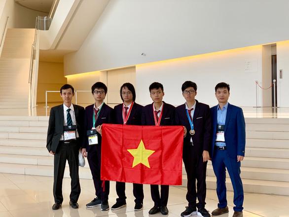 Đội tuyển Việt Nam dự Olympic tin học quốc tế năm 2019 - Ảnh: Bộ GD-ĐT