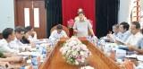 Đoàn kiểm tra của Ban Bí thư Trung ương Đảng làm việc tại thị xã Kiến Tường