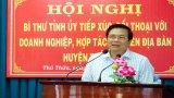 Bí thư Tỉnh ủy Long An - Phạm Văn Rạnh đối thoại doanh nghiệp, hợp tác xã tại huyện Thủ Thừa