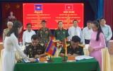 Ban Chỉ huy Quân sự huyện Bến Lức ký kết hợp tác năm 2019 với Chi khu Quân sự Mêsang