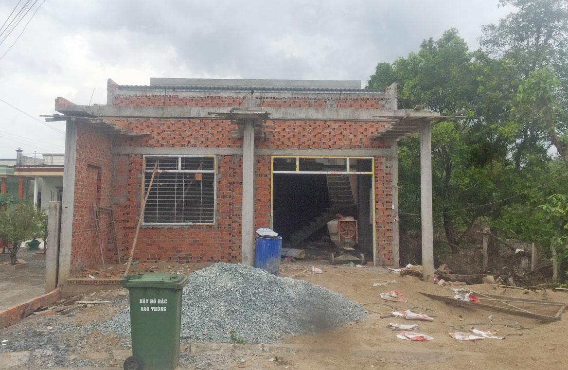 Ngôi nhà của gia đình bà Trang Ngọc Minh xây dựng trái phép trên đất nông nghiệp