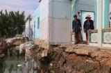 Sóc Trăng: Sạt lở nhấn chìm 9 căn nhà xuống sông Rạch Vọp