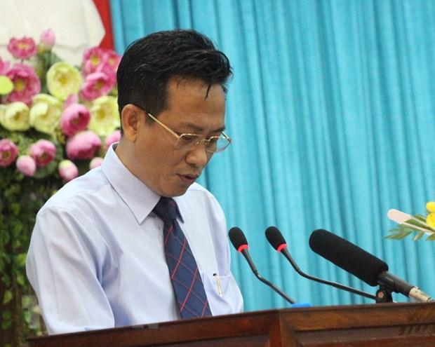 Ông Trần Đặng Đức, Giám đốc Tài nguyên và Môi trường tỉnh An Giang. (Ảnh: Thanh Sang/TTXVN)