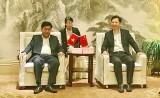 Đoàn công tác tỉnh Long An chào xã giao lãnh đạo thành phố Hoài Bắc, tỉnh An Huy, Trung Quốc