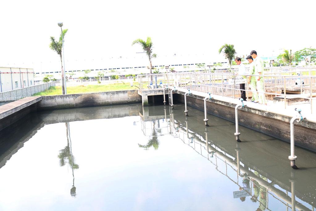 Tăng cường quản lý xả thải tại các khu, cụm công nghiệp đang hoạt động (Ảnh chụp hệ thống xử lý nước thải tại Khu công nghiệp Hòa Bình)