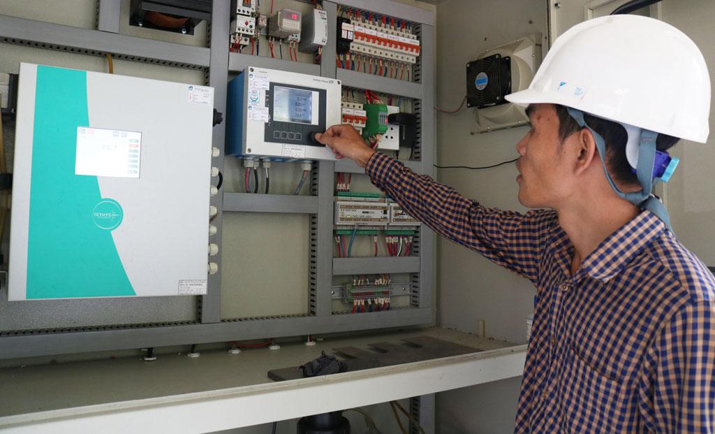 Toàn tỉnh có gần 30 doanh nghiệp lắp đặt trạm quan trắc nước thải tự động, truyền dữ liệu về Sở Tài nguyên và Môi trường theo dõi, kiểm tra