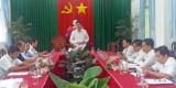 Phó Chủ tịch UBND tỉnh Long An – Phạm Văn Cảnh chủ trì việc giải quyết cấp nước cho thị trấn Cần Giuộc