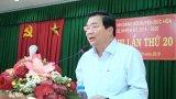 Bí thư Tỉnh ủy - Phạm Văn Rạnh dự Hội nghị Huyện ủy Đức Hòa lần thứ 20