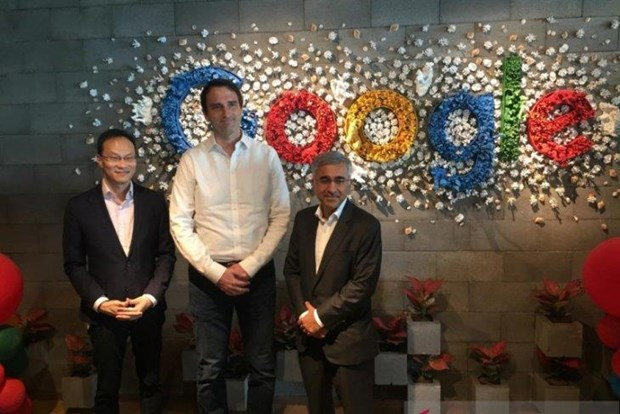 Managing Director of Google Indonesia Randy Jusuf (L) at the Google Indonesia Office in Jakarta (Photo: Antara)