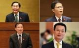 """""""Chốt"""" 4 Bộ trưởng đăng đàn trả lời chất vấn tại Kỳ họp thứ 8"""