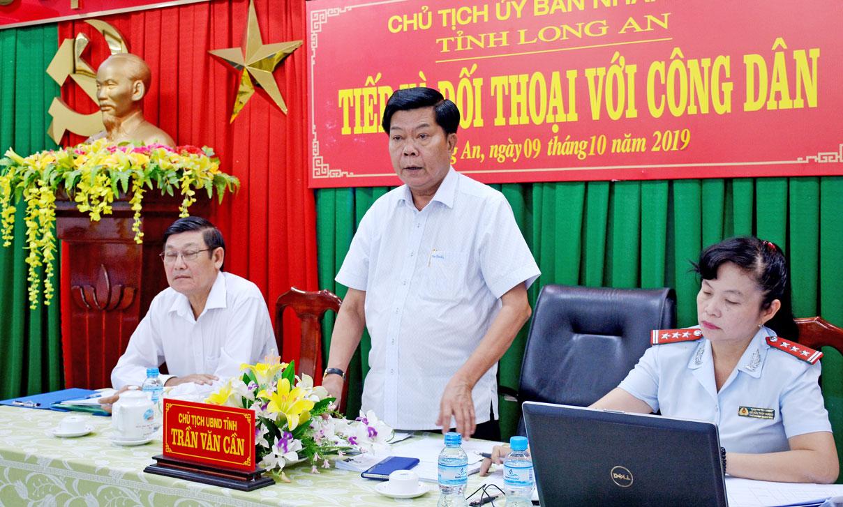 Chủ tịch UBND tỉnh - Trần Văn Cần thường xuyên tổ chức tiếp, đối thoại với công dân