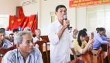 Đại biểu HĐND tỉnh Long An tiếp xúc cử tri huyện Thủ Thừa