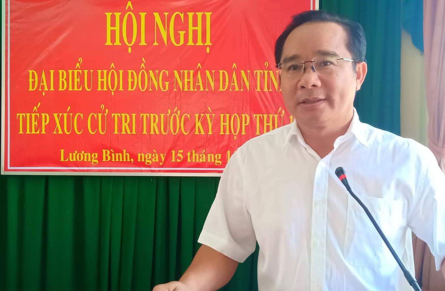 Phó Bí thư Thường trực Tỉnh ủy - Nguyễn Văn Được giải trình một số vấn đề cử tri quan tâm