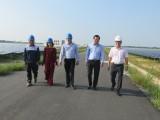 Sở Công Thương Long An khảo sát hoạt động nhà máy điện mặt trời