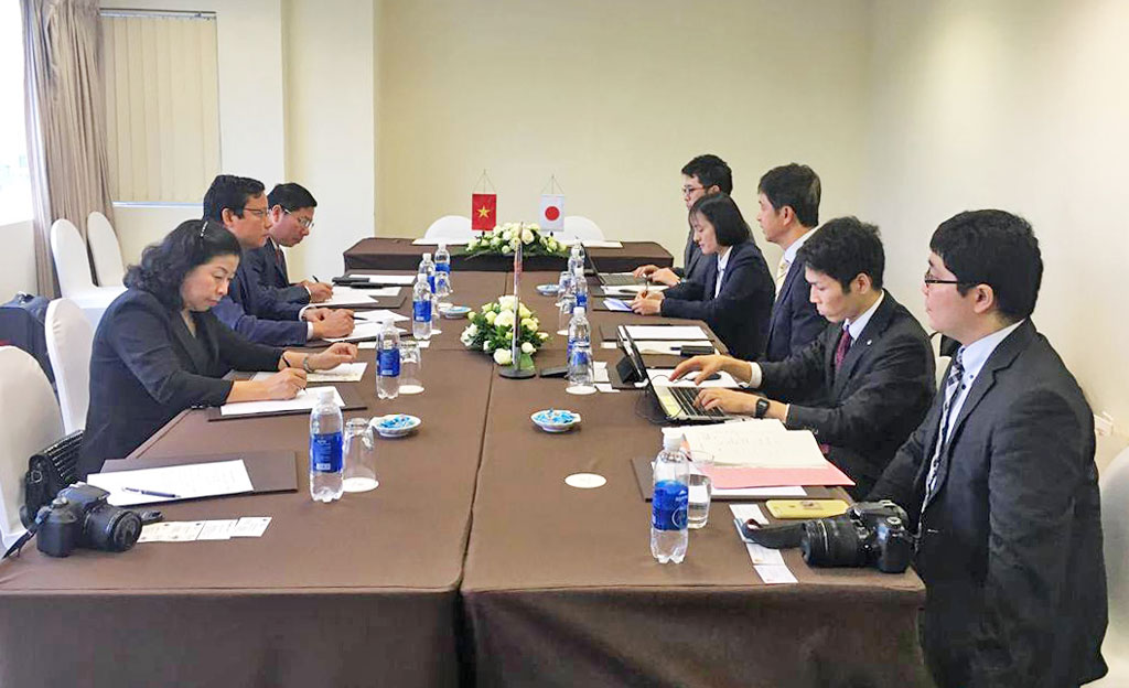 The working session of Long An province with the delegation of Ibaraki province, Japan