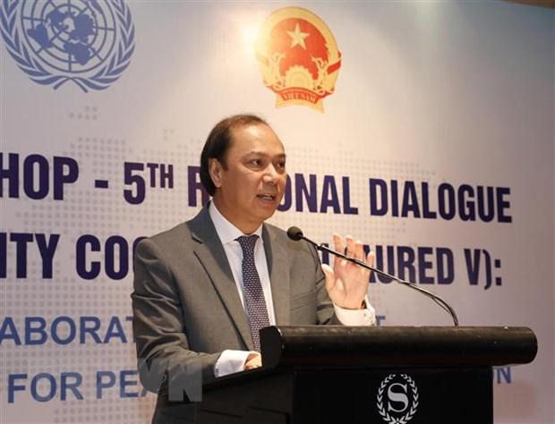 Thứ trưởng Bộ Ngoại giao Nguyễn Quốc Dũng. (Ảnh: Lâm Khánh/TTXVN)