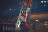 Hình ảnh các nhà vô địch bóng đá nam nữ SEA Games 30 tại Nội Bài