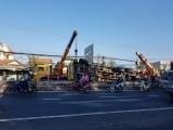 Lật xe tải chắn ngang Quốc lộ 1
