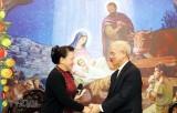 Chủ tịch Quốc hội mừng Giáng sinh tại TW Ủy ban Đoàn kết Công giáo