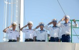 Lễ thay quân, tiễn tàu, tặng quà và chúc Tết tại huyện đảo Trường Sa