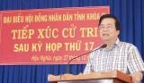 Bí thư Tỉnh ủy, Chủ tịch HĐND tỉnh - Phạm Văn Rạnh tiếp xúc cử tri Đức Hòa