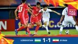 U23 châu Á 2020: ĐKVĐ Uzbekistan đánh rơi chiến thắng trước Iran