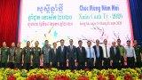 Long An: Họp mặt mừng Xuân Canh Tý với đoàn đại biểu Campuchia