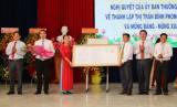 Thành lập thị trấn Bình Phong Thạnh, huyện Mộc Hóa