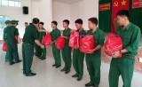 Bộ đội Biên phòng Long An tổ chức Lễ tiễn quân nhân hoàn thành nghĩa vụ quân sự