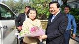 Phó Thủ tướng Vương Quốc Campuchia chúc Tết Đảng bộ, chính quyền và nhân dân Long An