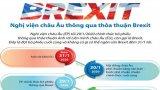 [Infographics] Nghị viện châu Âu thông qua thỏa thuận Brexit