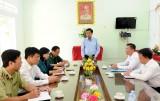 Phó Bí thư Tỉnh ủy, Chủ tịch UBND tỉnh Long An – Trần Văn Cần kiểm tra công tác phòng, chống dịch bệnh nCoV tại huyện Đức Hòa, Đức Huệ