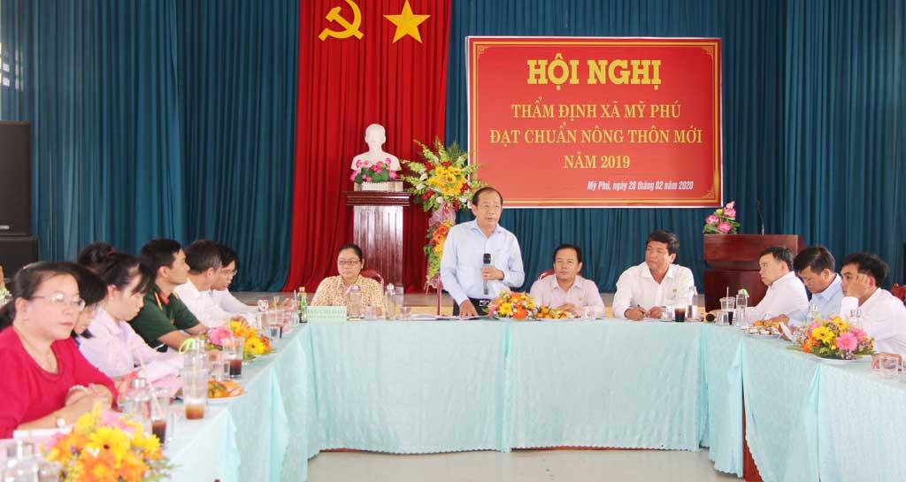 Giám đốc Sở Nông nghiệp và Phát triển nông thôn tỉnh - Nguyễn Thanh Truyền phát biểu tại buổi làm việc
