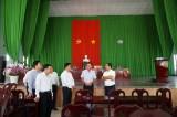 Phó Bí thư Thường trực Tỉnh ủy Long An-Nguyễn Văn Được kiểm tra công tác chuẩn bị đại hội Đảng tại xã Lộc Giang