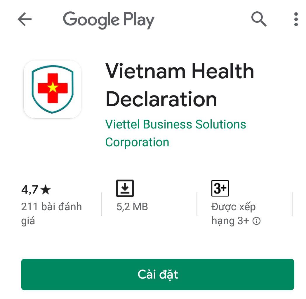 Ứng dụng Vietnam Health Declaration được xây dựng và ra mắt nhằm hỗ trợ việc phòng, chống lây lan dịch bệnh Covid-19
