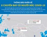 [Infographics] Thông báo khẩn về 8 chuyến bay có người mắc COVID-19