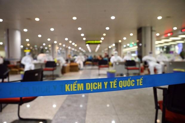 The health examination area for foreigners at Noi Bai International Airport in Hanoi (Photo: VNA)