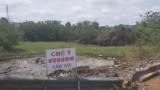 Lắp biển cảnh báo nguy hiểm khu vực xe bồn lật, tràn hóa chất
