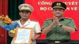 Công bố quyết định thăng cấp hàm cho đồng chí Phạm Thanh Tâm - Phó Giám đốc Công an tỉnh Long An