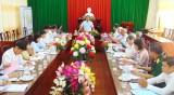 Phó Bí thư Thường trực Tỉnh ủy Long An kiểm tra công tác chuẩn bị Đại hội Đảng tại Châu Thành