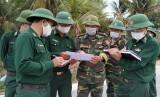 Bộ đội Biên phòng Long An kiểm tra chốt chặn phòng, chống dịch Covid-19 trên biên giới