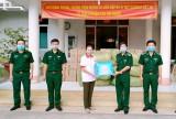 Bộ đội Biên phòng Long An tiếp nhận vật tư phòng, chống dịch Covid-19