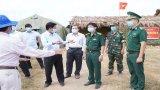 Chủ tịch UBND tỉnh Long An -  Trần Văn Cần kiểm tra phòng, chống dịch Covid-19 tại biên giới