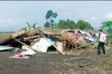 Long An: Mưa dông, lốc xoáy làm sập nhà, 1 người bị sét đánh tử vong